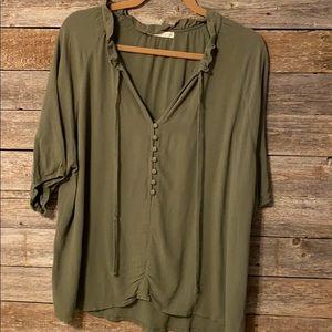 Anthropology green shirt xl